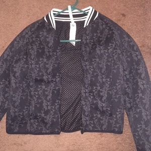 Bomber jacket! Black Grey and White.Worn only once